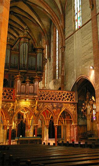 Jubé du XIVe siècle - Église Saint-Pierre-le-Jeune de Strasbourg - 2005