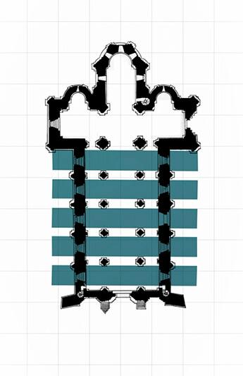 Plan d'ensemble de l'Église Saint-Pierre d'Aulnay - DRAC Nouvelle Aquitaine - SDAP 17 024-46