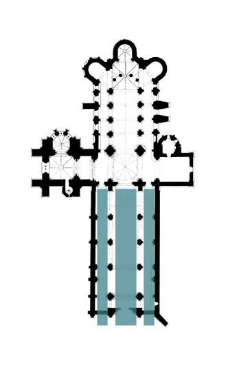 Église Saint-Eutrope de Saintes - Plan d'ensemble avec anciennes nef et chapelle rayonnante - DRAC Nouvelle Aquitaine - SDAP17 4151359