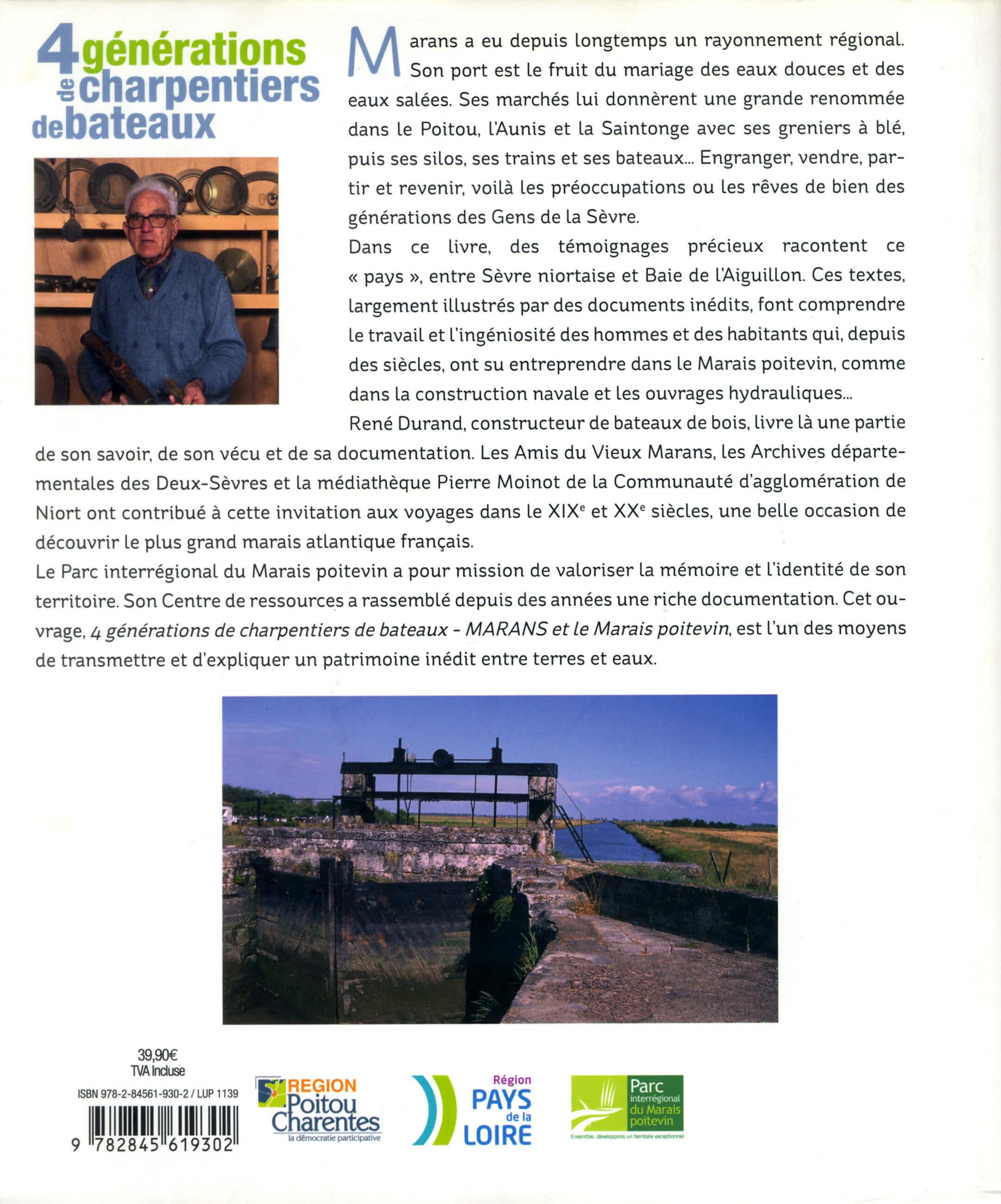 René DURAND - Daniel BOURDU - Guy BARDOT - Quatre générations de charpentiers de bateaux - 2e de couverture - PDM 2013
