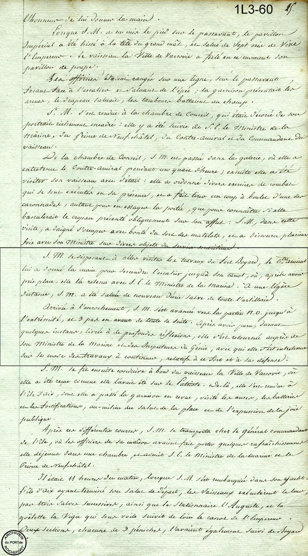 Napoléon sur l'enrochement -1808