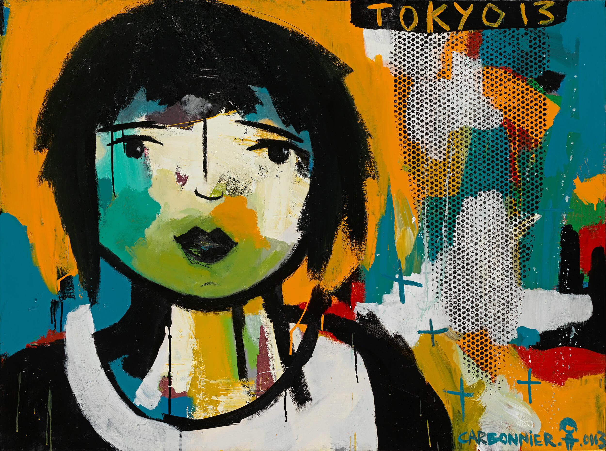 Pauline CARBONNIER - Tokyo 13 - Acrylique, encre de chine, 135 x100 cm