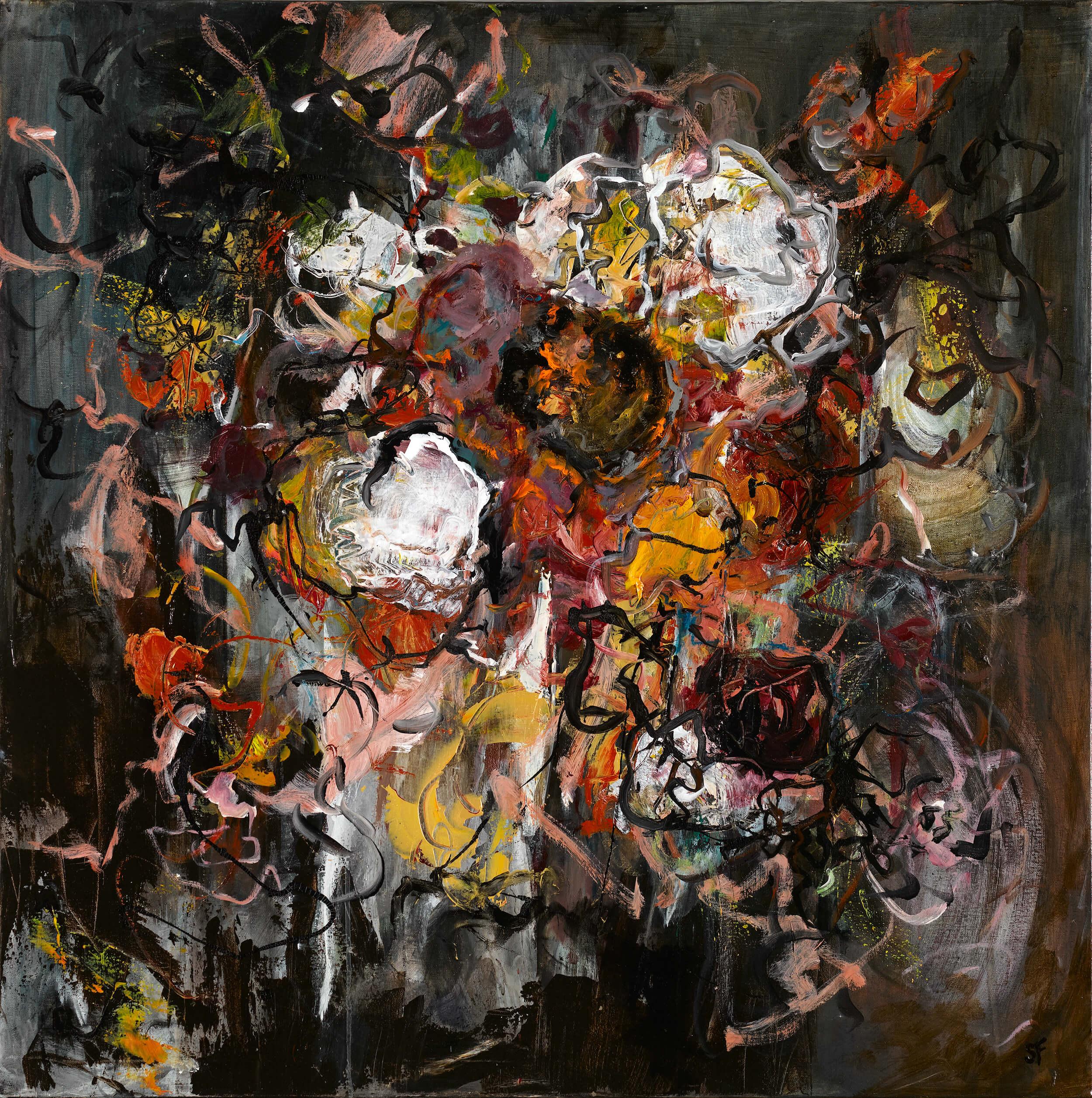 Sylvie FACON - Sans titre - Acrylique, 100 x 100 cm