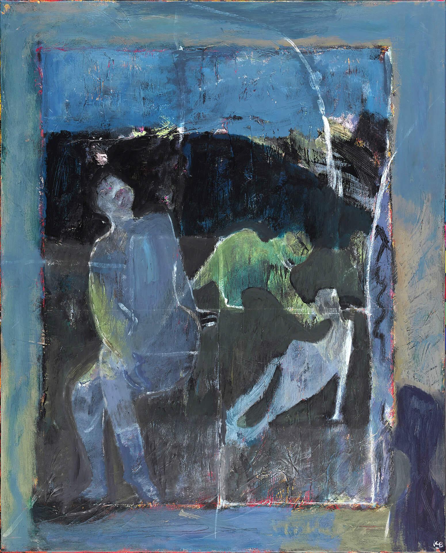 Christine BARRAU - Coup de blues - Acrylique sur toile - 80 x100 cm