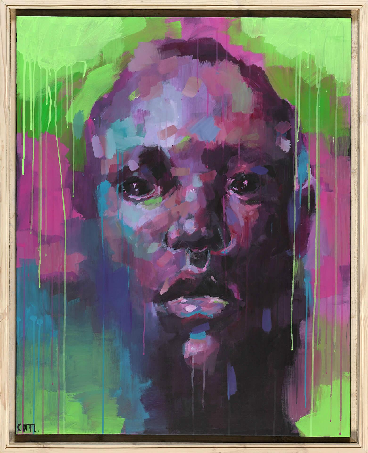 Patrick FEILLENS - L'homme sensible - Acrylique sur toile - 80 x 100 cm