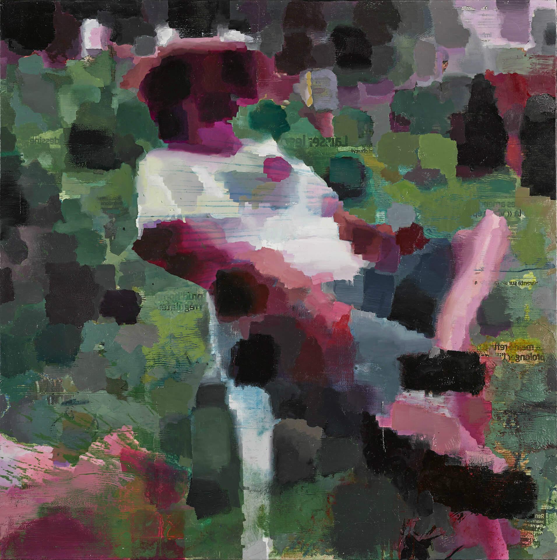 Claude HUSSON - Sieste - Huile sur toile - 100 x 100 cm